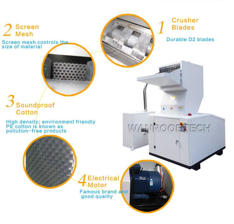 Industrial Plastic Granulator, PET Lump Granulator, Plastic Lump Crusher, Soundproof Plastic Granulator, Plastic Granulator Price
