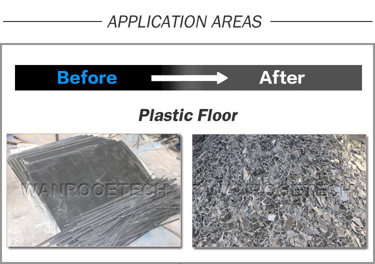 SPC Flooring Shredder, WPC Flooring Shredder, PVC Flooring Shredder, Vinyl Plastic Flooring Recycling, Plastic Flooring Shredder