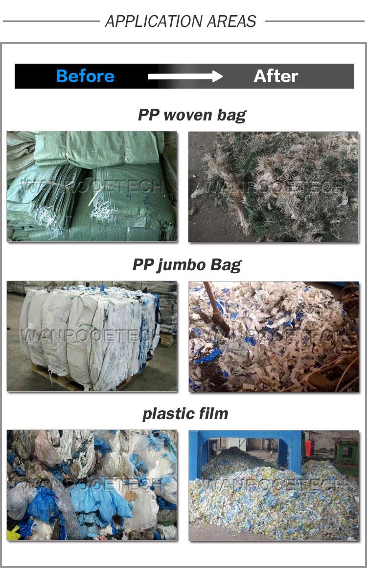 Plastic Film Shredding Machine, PVC Film Shredder, BOPP Film Shredder, LDPE Film Shredder, PA Film Shredder